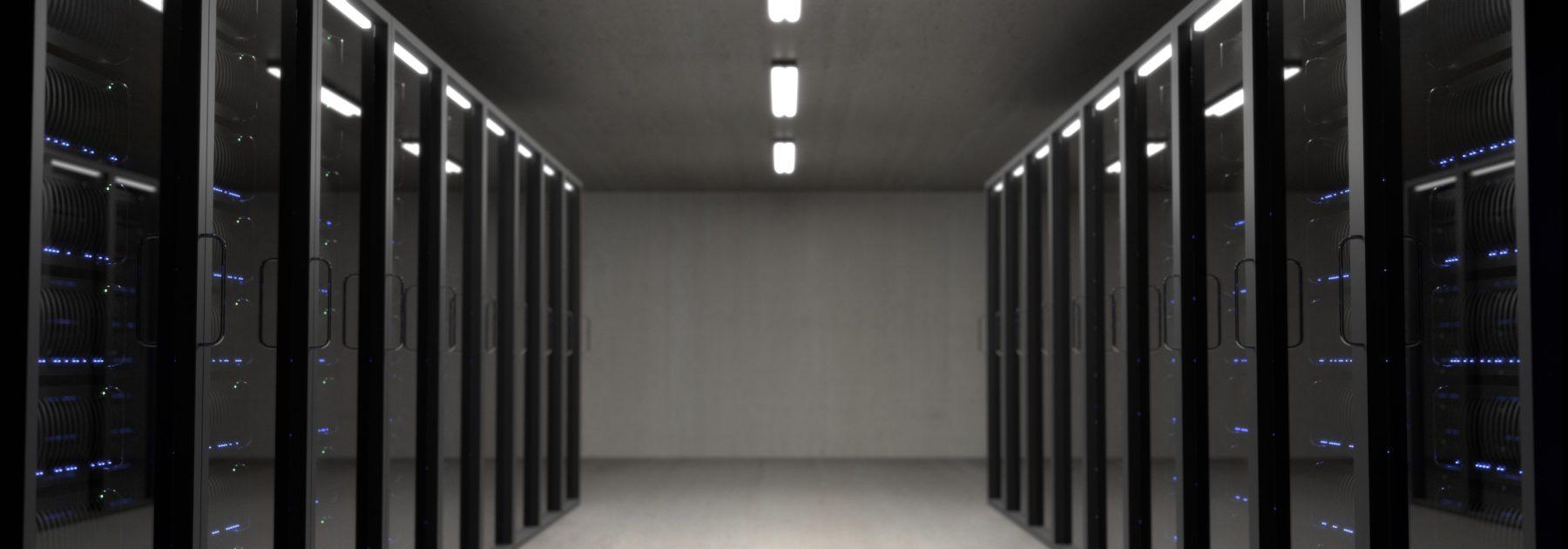 Photo of inside a data centre